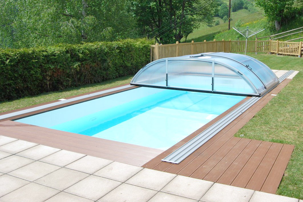 Pool mit berdachung im set angebot pool tech - Uberdachung fur pool ...